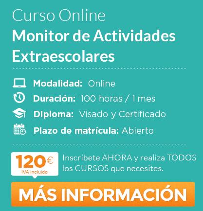 "Curso de ""Monitor de Actividades Extraescolares"" online"