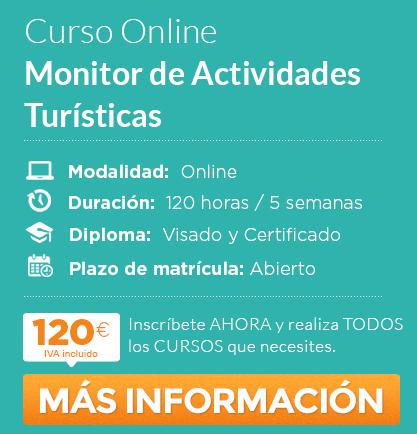 "Curso de ""Monitor de Actividades Turísticas"" online"
