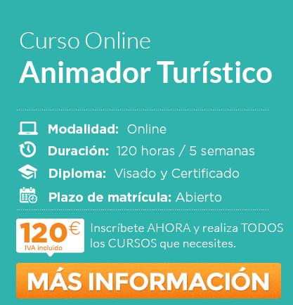 """Solicita información del curso de """"Animador Turístico"""" online"""