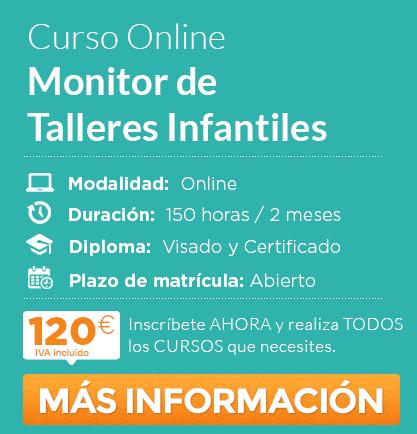 """Curso de """"Monitor de talleres infantiles"""" online"""