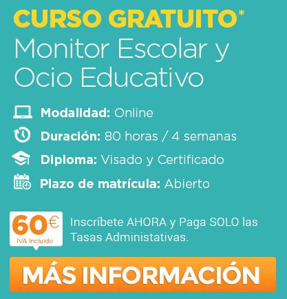 Monitor Escolar y Ocio Educativo