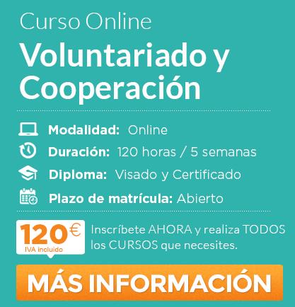 """Curso de """"Voluntariado y Cooperación"""" online"""