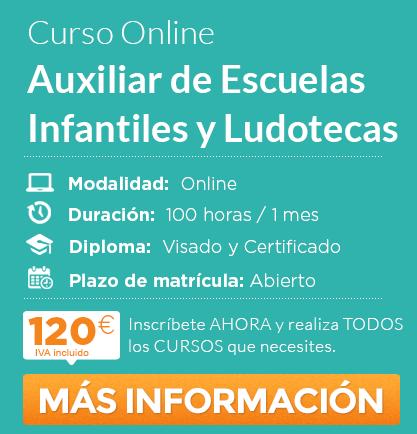 Curso de Auxiliar de Escuelas Infantiles y Ludotecas online