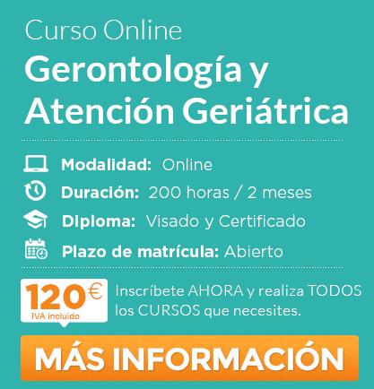 """Curso de """"Gerontología y Atención Geriátrica"""" online"""