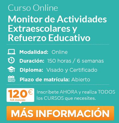 """Curso """"Monitor de Actividades Extraescolares y Refuerzo Educativo"""" online"""