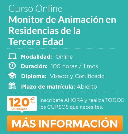 """Curso de """"Monitor de Animación en Residencias de la Tercera Edad"""" online"""
