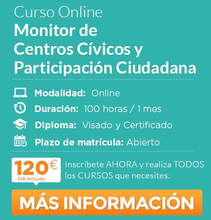 """Curso de """"Monitor de Centros Cívicos y Participación Ciudadana"""" online"""