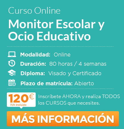 """Curso """"Monitor Escolar y Ocio Educativo"""" online"""