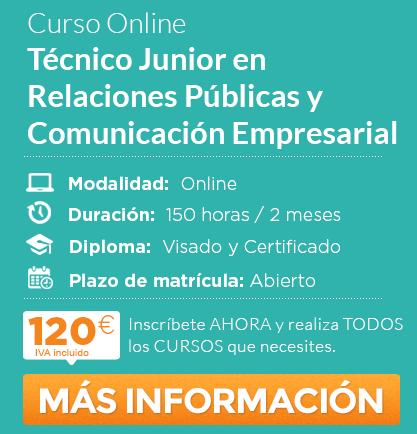 """Curso de """"Técnico Junior en Relaciones Públicas y Comunicación Empresarial"""" online"""