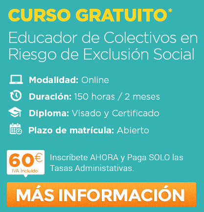Educador Colectivos en Riesgo de Exclusión Social