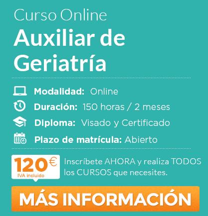 """Curso de """"Auxiliar de Geriatría"""" online"""