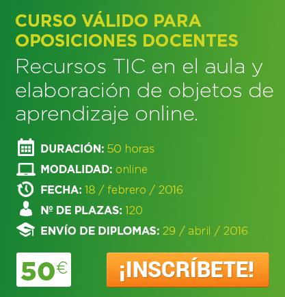 Entreagentes convocatoria recursos tic en el aula inicio for Curso concurso docente 2016