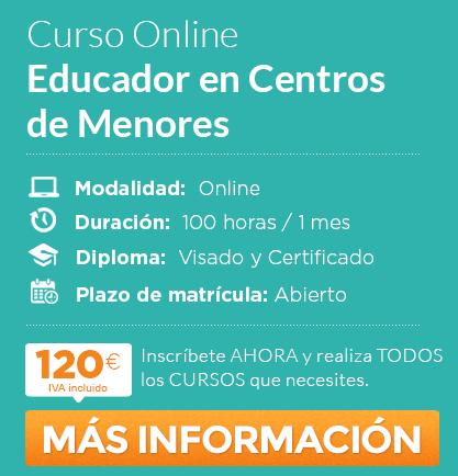 """Curso de """"Educador en Centros de menores"""" online"""