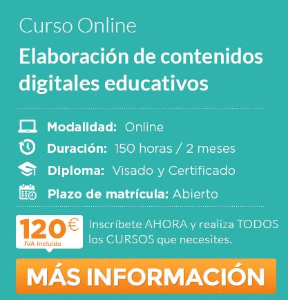 """Curso """"Elaboración de Contenidos Digitales Educativos"""" online"""