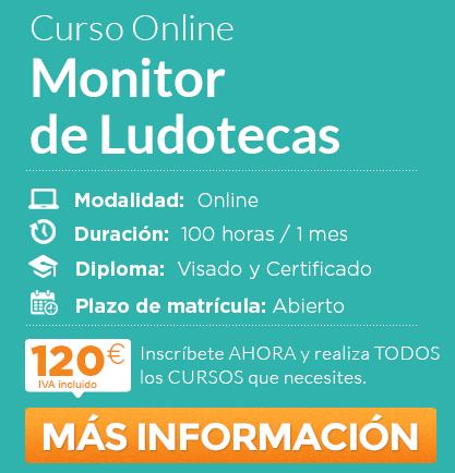 """Solicita información del curso de """"Monitor de Ludotecas"""" Online"""
