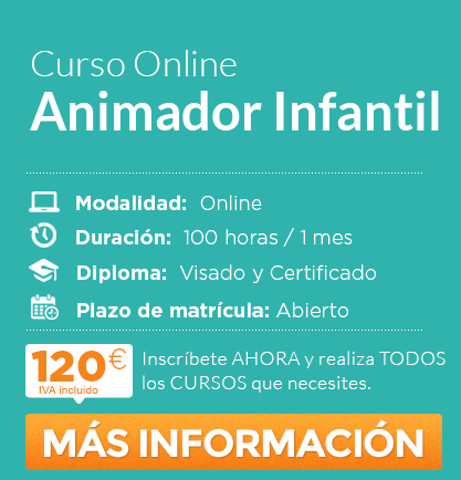 "Curso de ""Animador Infantil"" online"