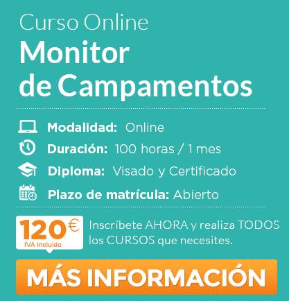 """Curso de """"Monitor de Campamentos"""" Online"""