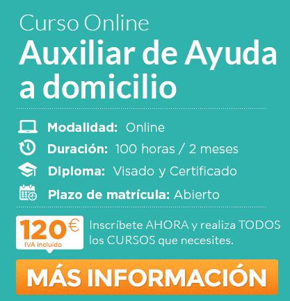 """Curso de """"Auxiliar de Ayuda a Domicilio"""" online"""