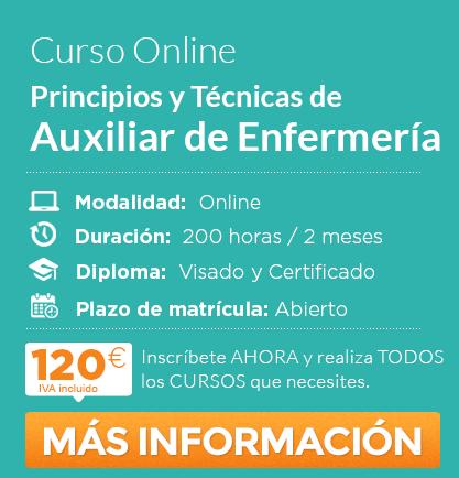 "Curso de ""Auxiliar de Enfermería"" online"