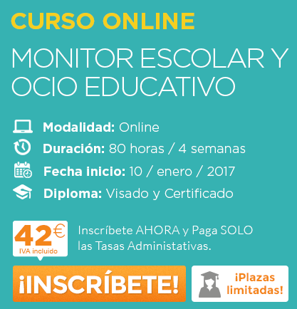 Monitor Escolar y Ocio Educativo