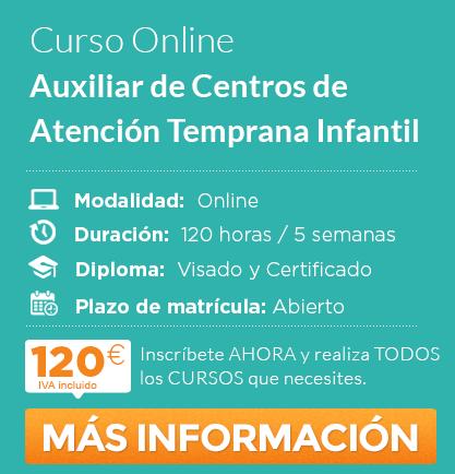 "Curso de ""Auxiliar de Centros de Atención Temprana Infantil"" Online"