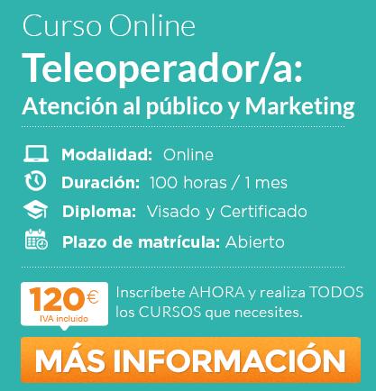 """Curso de """"Teleoperador/a: Atención al público y Marketing"""" online"""