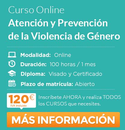 """Curso de """"Atención y Prevención de la Violencia de Género"""" Online"""