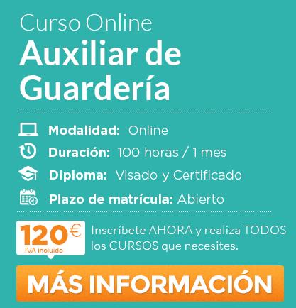 """Curso de """"Auxiliar de guardería"""" online"""
