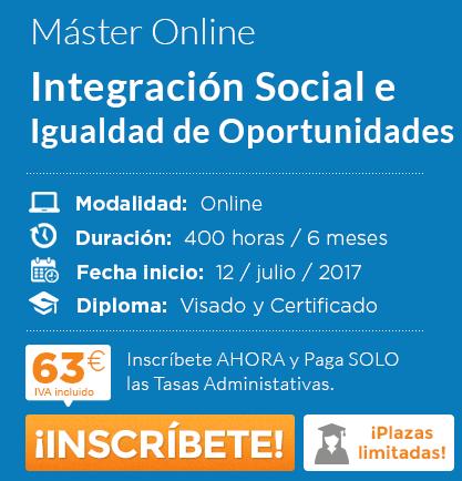 máster en Integración Social e Igualdad de Oportunidades