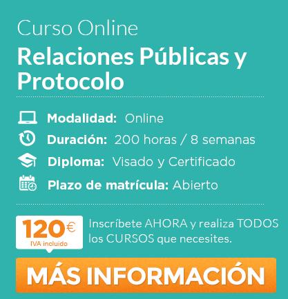 """Curso de """"Relaciones Públicas y Protocolo"""" online"""