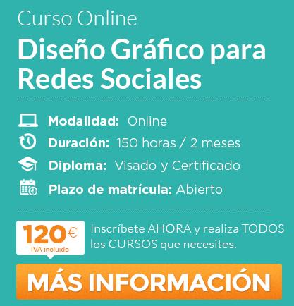 curso de diseño gráfico para redes sociales online - divulgación